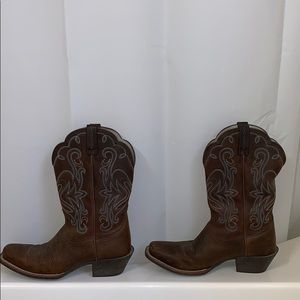 Ariat Brown and Blue Cowboy Boots